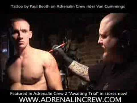 Tattoo ink Paul Booth with Adrenaline Crew