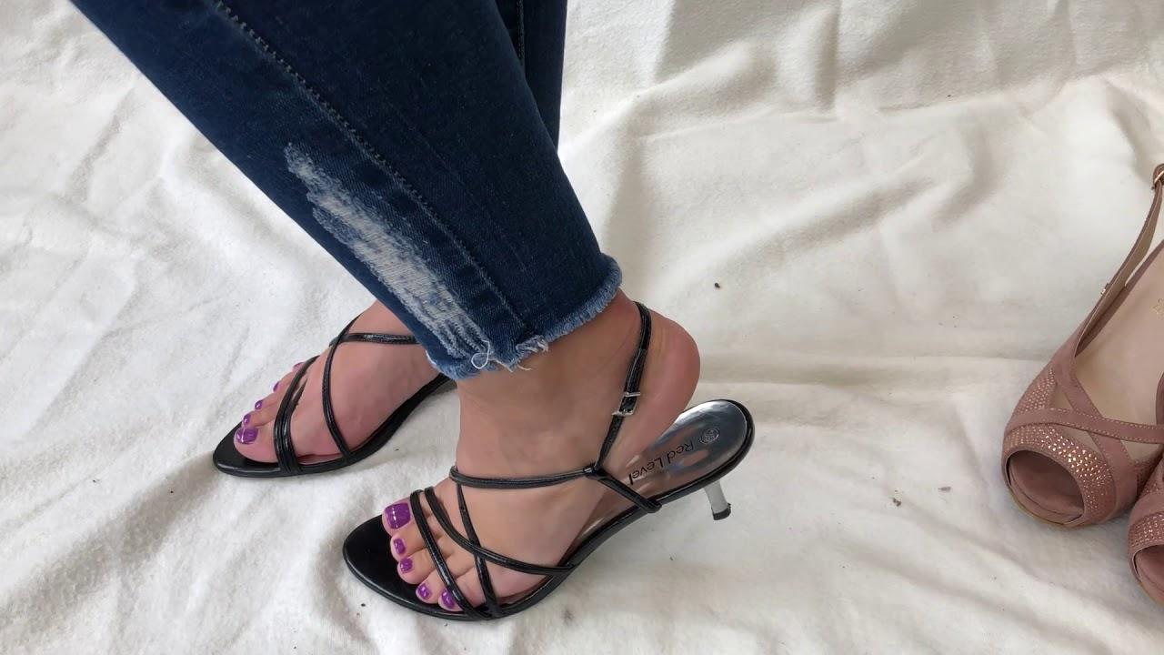 Black heels sandales