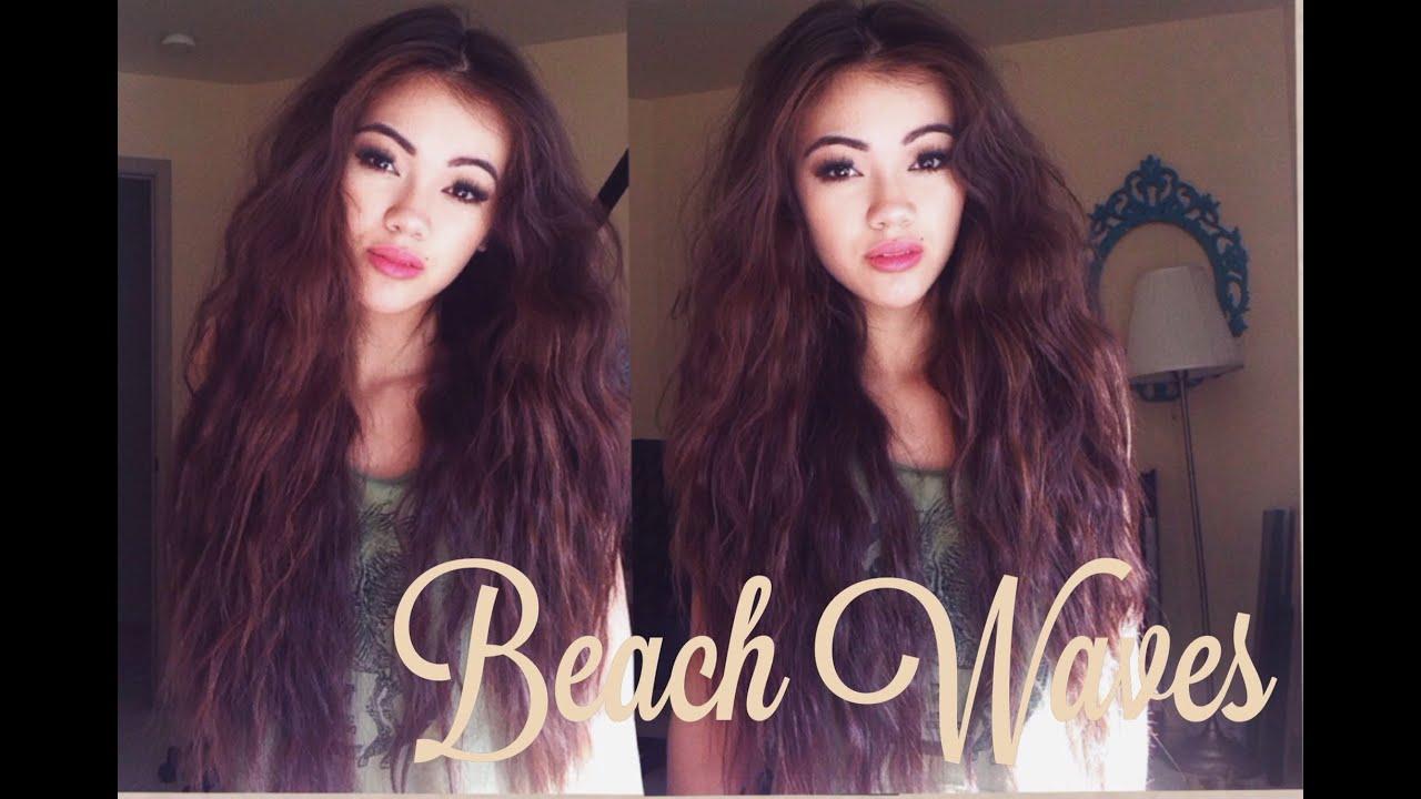 Beach Waves Hair Tutorial - YouTube