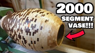2000 Segment Vase For 2000 Subscribers! | Segmented Woodturning