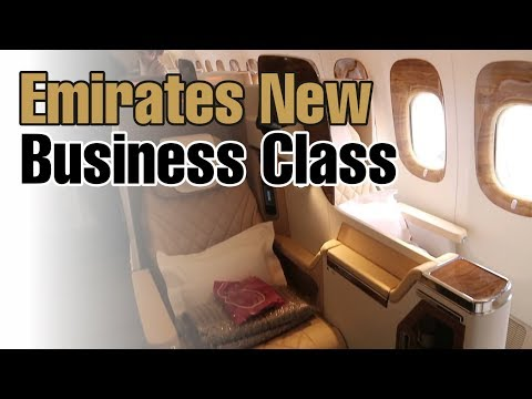 Emirates New Business Class - Walk Through, Stansted Airport