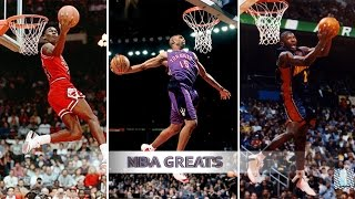 Repeat youtube video Top 10 NBA Slam Dunk Contest Dunks of ALL TIME - Michael Jordan, Vince Carter, Dwight Howard