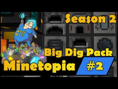 Minecraft Big Dig - Stealing BigDs Lava From Creepy Tank - S2E2