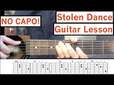 "Milky Chance - ""Stolen Dance"" Guitar Tutorial Easy Lesson"