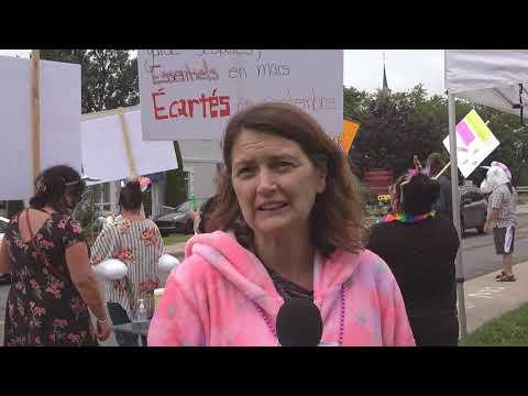 Manifestation du SEPB-578 à Chambly
