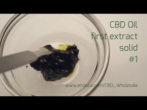 CBD Oil Wholesale CBD Extracts FIRST EXTRACT SOLID #1 - Endoca.com