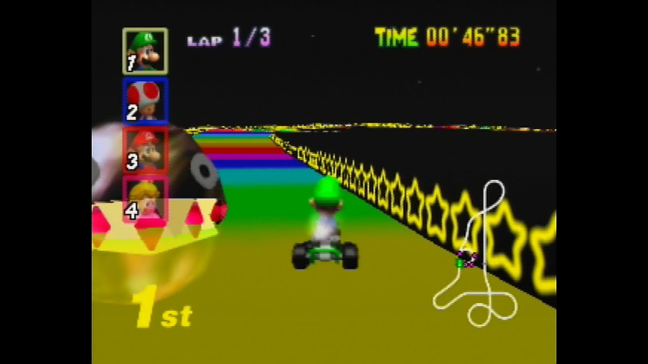 Mario Kart 64 Rainbow Road N64