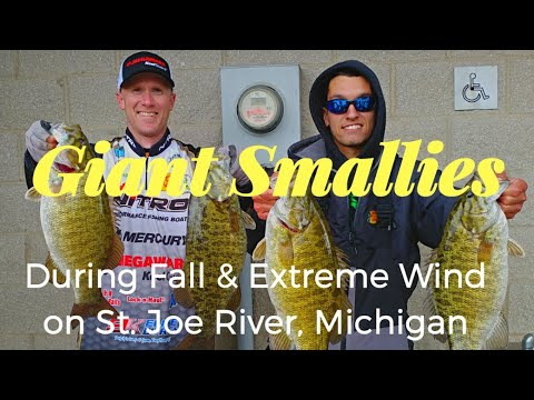Giant Smallmouth Bass During The Fall In Extreme Wind On The St. Joe River With Umbrella Rig