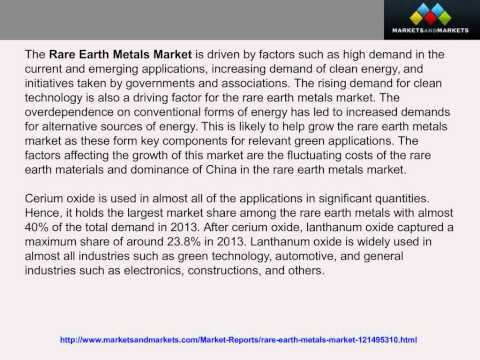 Rare Earth Metals Market by Type&by Application (Catalysts) - 2019