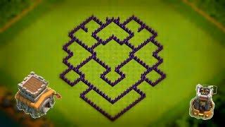 Diseño de aldea de Ayuntamiento 8 | Th 8 | Torre bombardera | Aldea Híbrida | Clash Of Clans