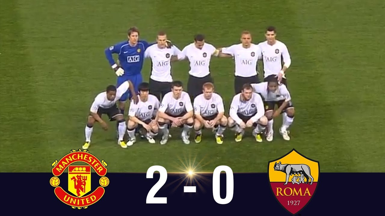 manchester united vs as roma 2008 ucl quarter finals highlights youtube manchester united vs as roma 2008 ucl quarter finals highlights