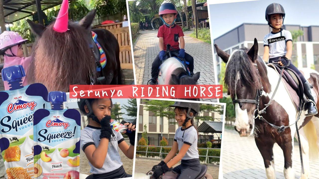 Riding Horse di Wisata Edukasi Berkuda Branchsto | Sehat Seru bersama Yoghurt Cimory Squeeze