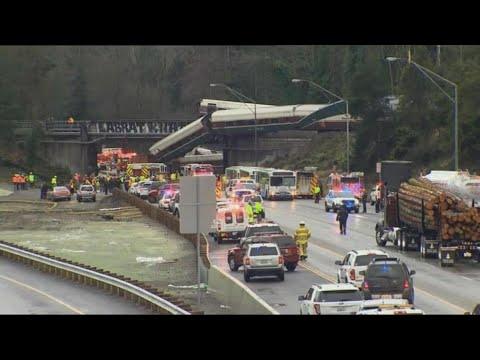 قتلى بسقوط قطار من فوق جسر بولاية واشنطن  - نشر قبل 3 ساعة