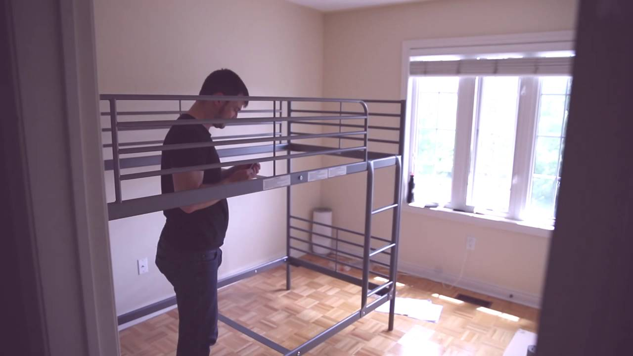Ikea Svarta Loft Bed Assembly Youtube