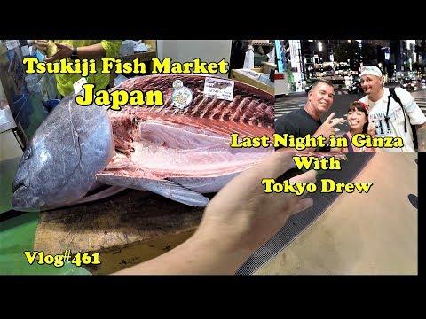HUGE Tsukiji Fish Market Japan. Last Night In Ginza