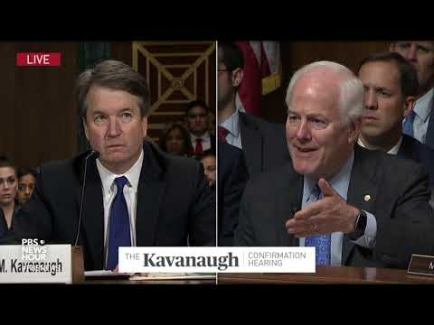 The burden is not on you, but on the accuser, Cornyn tells Kavanaugh