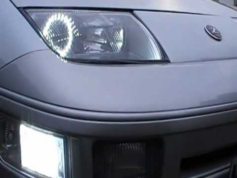Nissan 300zx Smd Halo Angel Eyes Headlights Youtube
