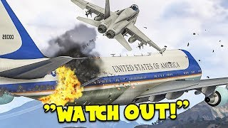 Escorting Air Force One in GTA 5 Online