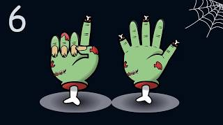 👻🎃🍬Halloween Counting Show with Spooky Zombi Fingers Count to Ten (10) with Halloween Charkters  
