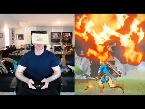 Zelda Breath of the Wild & Mario Odyssey Labo VR w/ Through the Lens Video at 30:15 & 34:30
