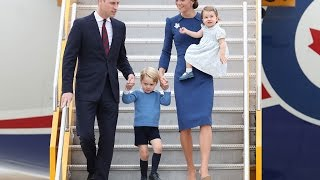 royals prince william kate middleton arrive in victoria b c canada