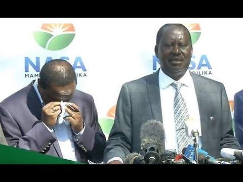 Kalonzo CRIES as Raila Mentions How Kalonzo's Sick Wife was Affected by the INVASION.