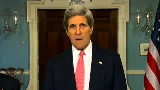 US Secretary Kerry Delivers Remarks With Japanese Foreign Minister Kishida