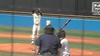 東洋大の佐藤投手です。彼も大学3年生となりました。