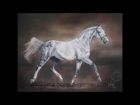 Pferd malen lassen – Pferdeportrait malen lassen in Öl – Ölgemälde mit Musik von SchoHnzeit