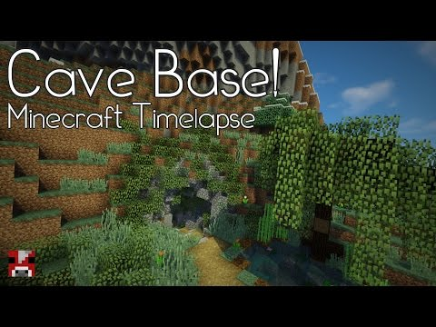 Minecraft Timelapse - CAVE BASE! (WORLD DOWNLOAD)