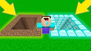 Minecraft Battle - NOOB vs PRO : DIRT VS DIAMOND ! WHICH PIT WILL NOOB CHOOSE ? (Animation)