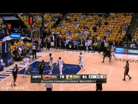Heat vs Pacers: Game 5 Highlights - EPIC Game Paul George Goes Crazy