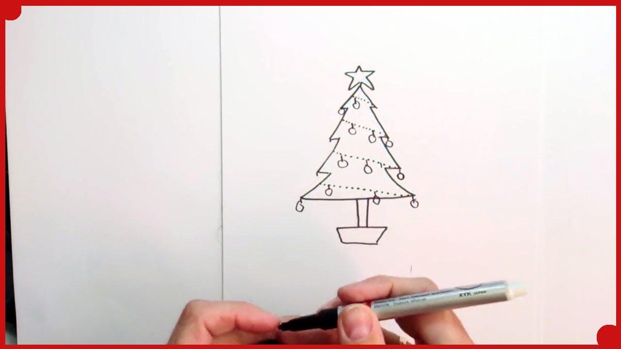 Como Dibujar Un Arbol De Navidad Muy Fácil Para Colorear Tecnicas De Dibujo Para Niños