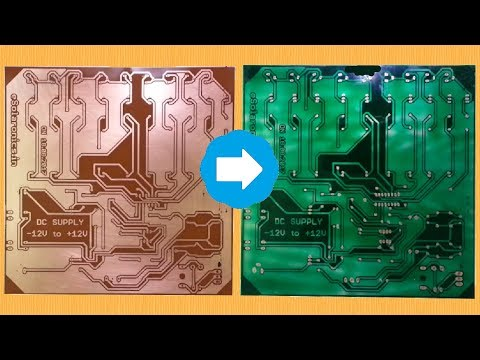 Create your own PCB Green Solder mask at Home