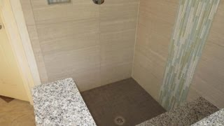 Large Format Tile Bathroom Time Lapse Installed With Progress Profiles Proleveling System