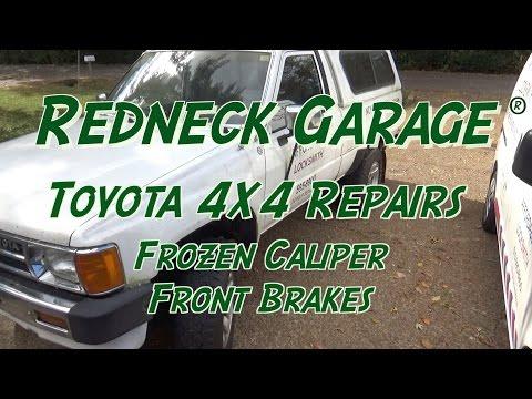 86 Toyota Pickup - Front Brakes Repair - New Calipers - Motive Power Bleeder
