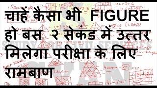 reasoning tricks in hindi | counting of figures | बस 2 सेकंड लगेगा | ssc exam 2017 | bank po | ibps