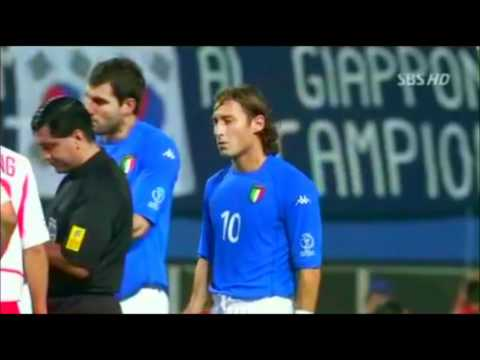 Italians hacking down Koreans in 2002 WC. Why Italy shouldn't have reached WC 2002 quarterfinals.