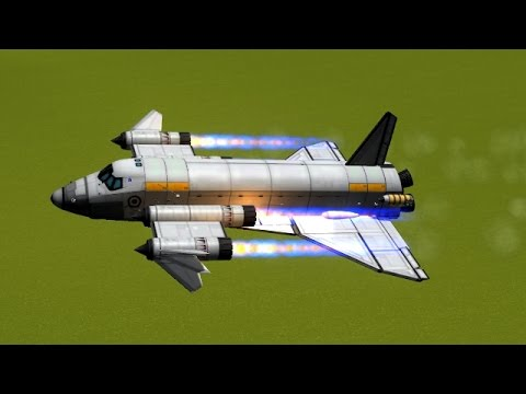 KSP - basic stock Space Shuttle Replica building ...