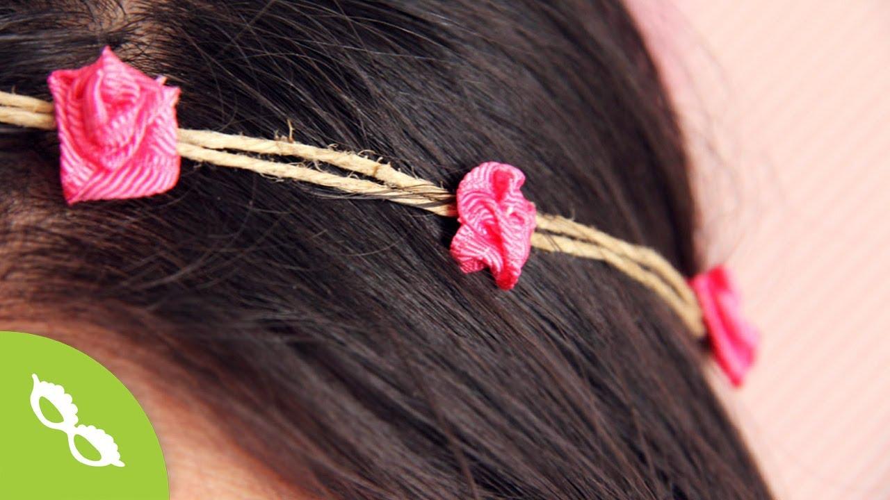 Accesorio disfraz hippie rosas de list n diy youtube for Disfraz de hippie