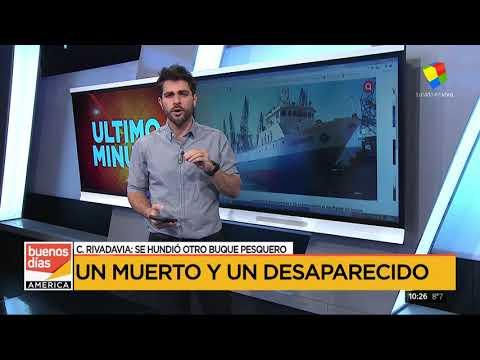 Se hundió un buque pesquero en Comodoro Rivadavia: un muerto y un desaparecido