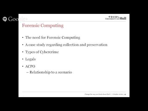 Forensic Computing - Revision