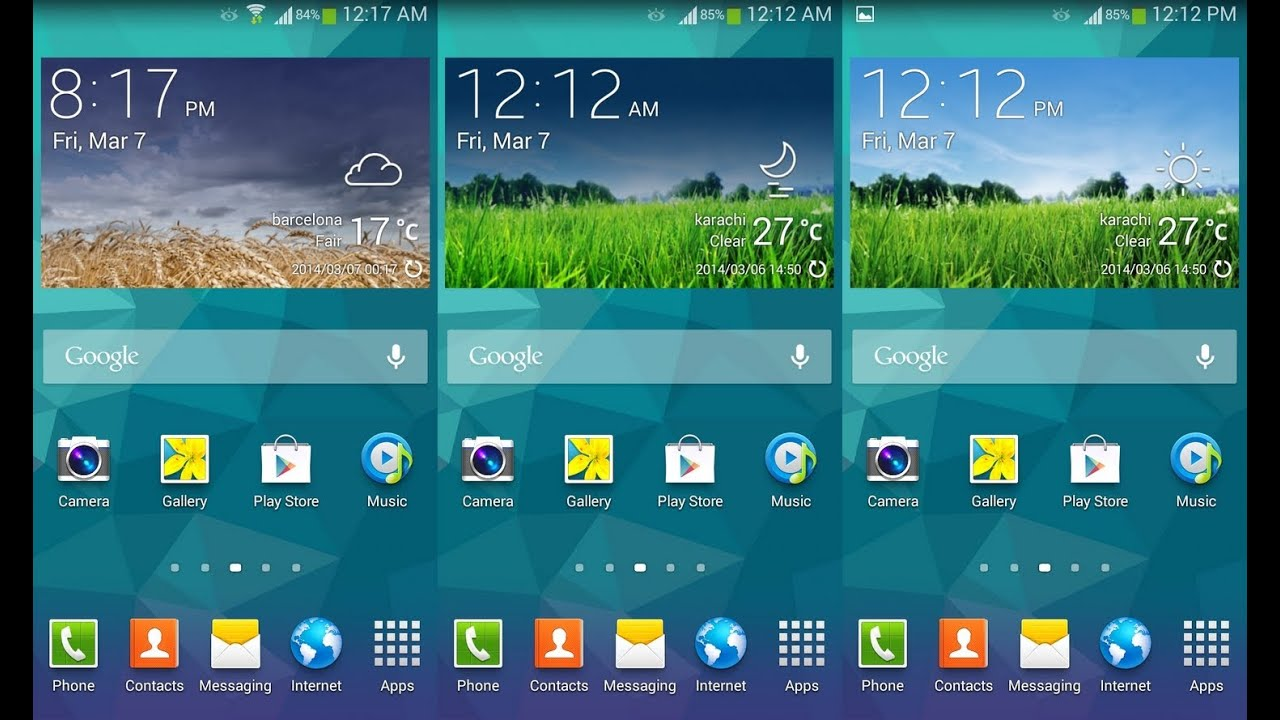 Install Samsung Galaxy S5 Weather Widget On Any Android