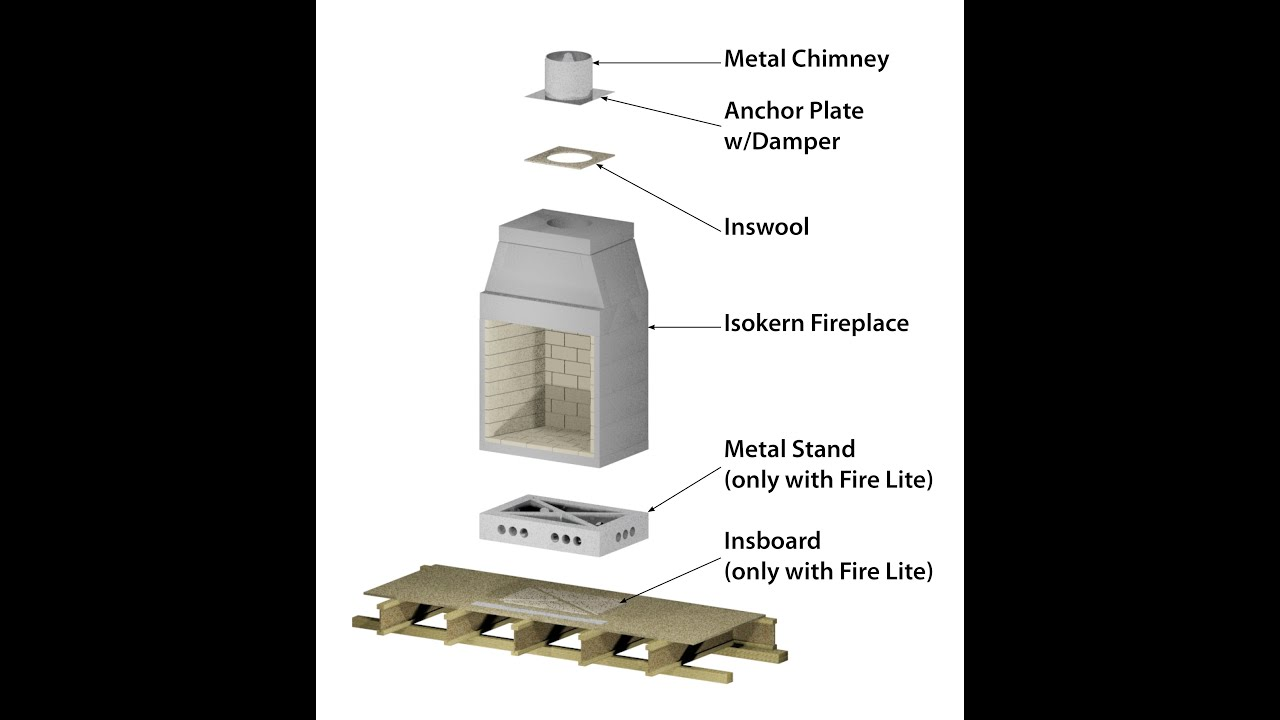 modular outdoor fireplace kits modular refractory outdoor fireplace