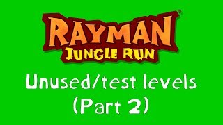 Rayman Jungle Run unused/test levels (Part 2)