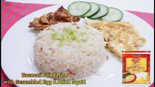 Basmati Fried Rice with Scrambled Egg & Dried Squid