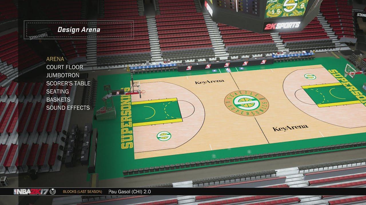 NBA 2K17 Arena Creation: Seattle SuperSonics 2001 - 2008 (KeyArena)