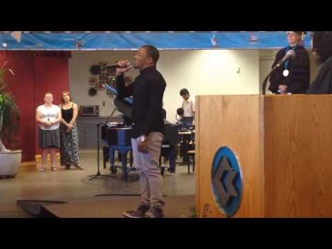 Bryan Omoru Sings The US National Anthem At Coconino Community College's 2016 Graduation Ceremony!!!