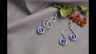 Beebeecraft  tutorials on making Beautiful  wire wrapped music Note Earrings