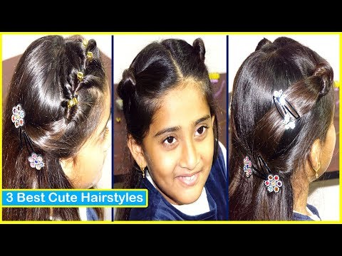 3 Best Simple Hairstyles for Girls Short Hair   New Kids Hairstyle   Latest Hair Style Girl 2019 thumbnail